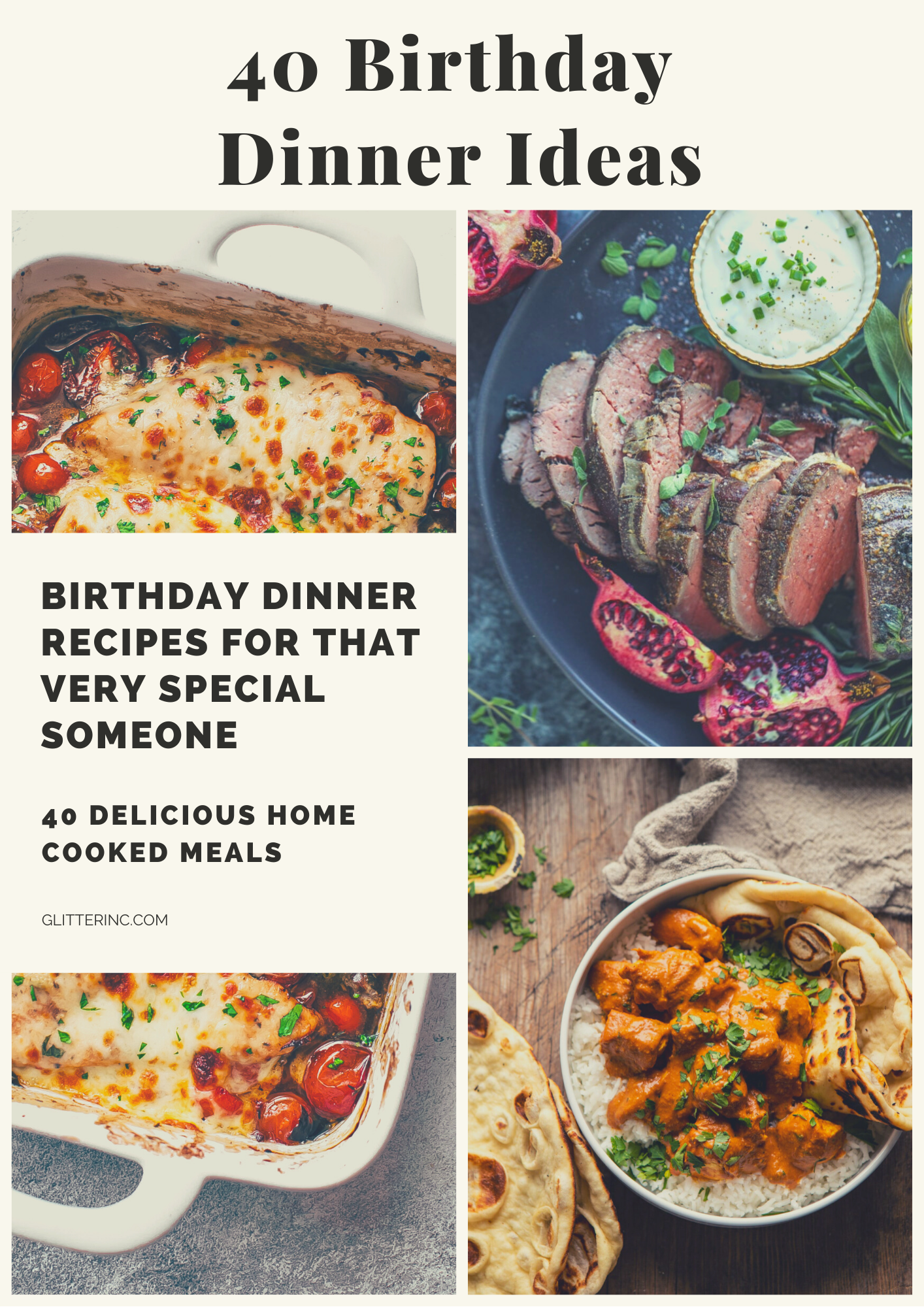 40 Birthday Dinner Ideas At Home Glitter Inc Blog