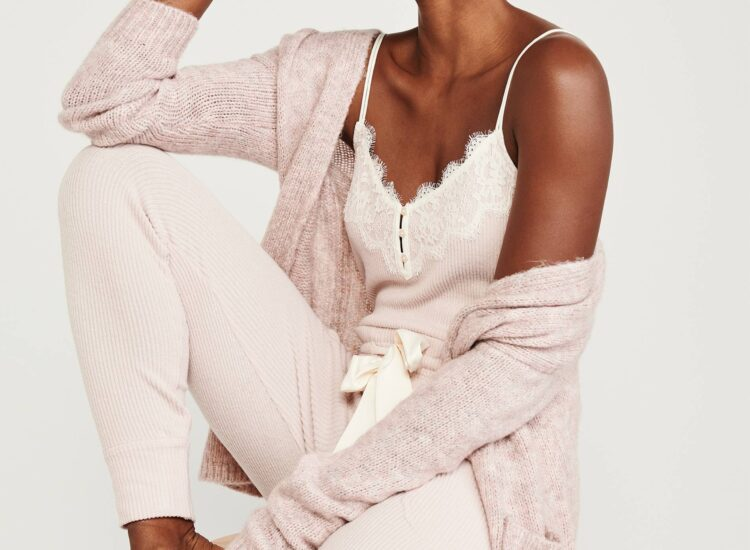Abercrombie Cozy Ribbed Joggers and Camisole Pajamas