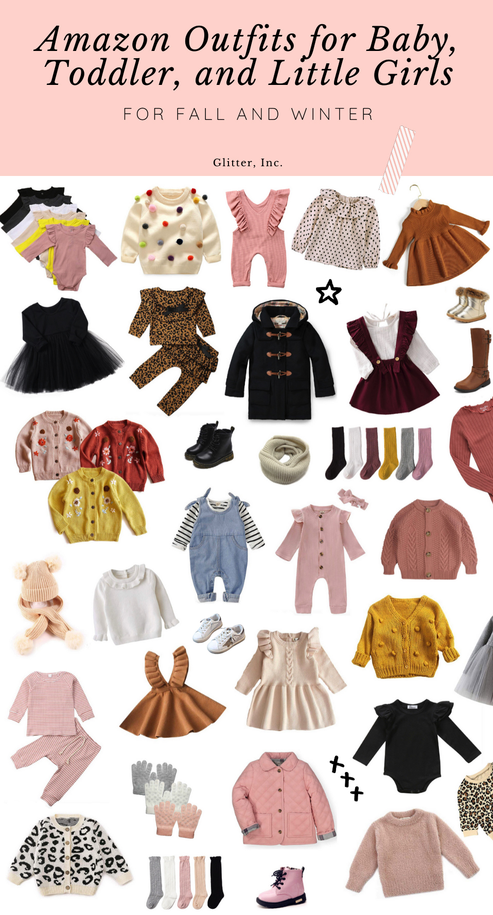 Amazon Outfits for Baby Girls, Toddler, and Little Girls - Fall and Winter Kids Fashion - GLITTERINC.COM