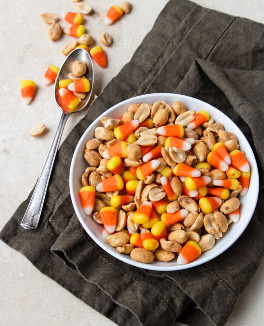 Candy Corn Peanut Snack Mix