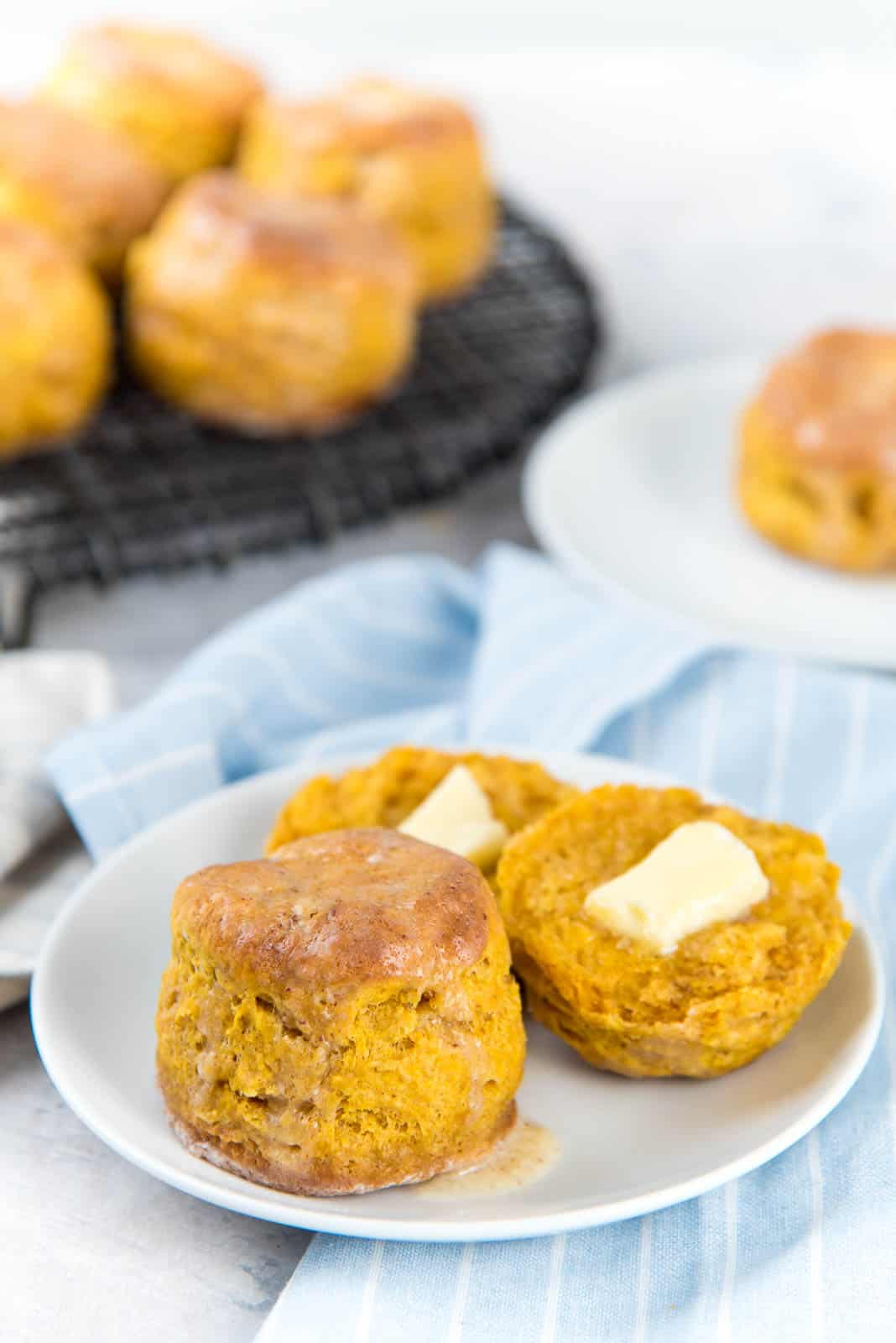 These delicious snacks, packed with the season's best fall flavors, will keep you and your family happily snacking all fall long! Click through for the recipes. | glitterinc.com | @glitterinc // Classic Pumpkin Scones