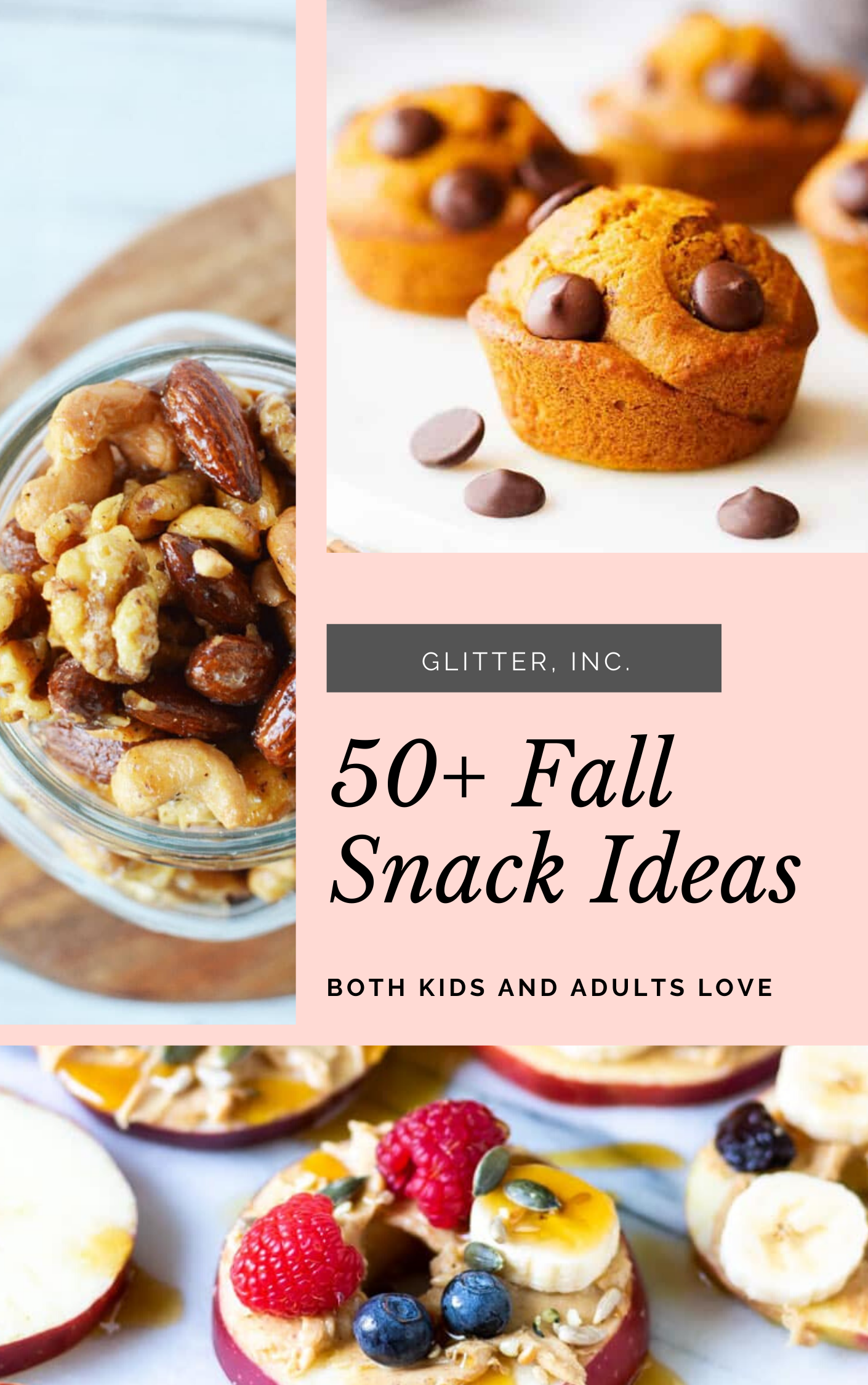 These delicious snacks, packed with the season's best fall flavors, will keep you and your family happily snacking all fall long! Click through for the recipes. | glitterinc.com | @glitterinc