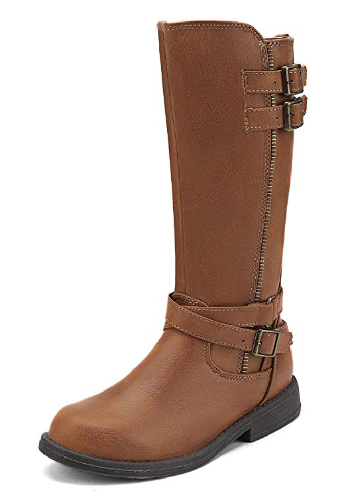 Girls Knee High Fashion Riding Boots