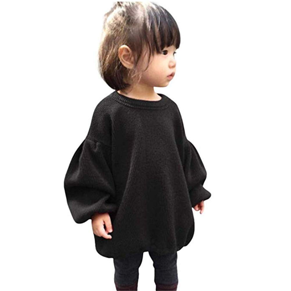Newborn Infant Baby Girl Sweater Kid Long Sleeve Warm Pullover Tunic