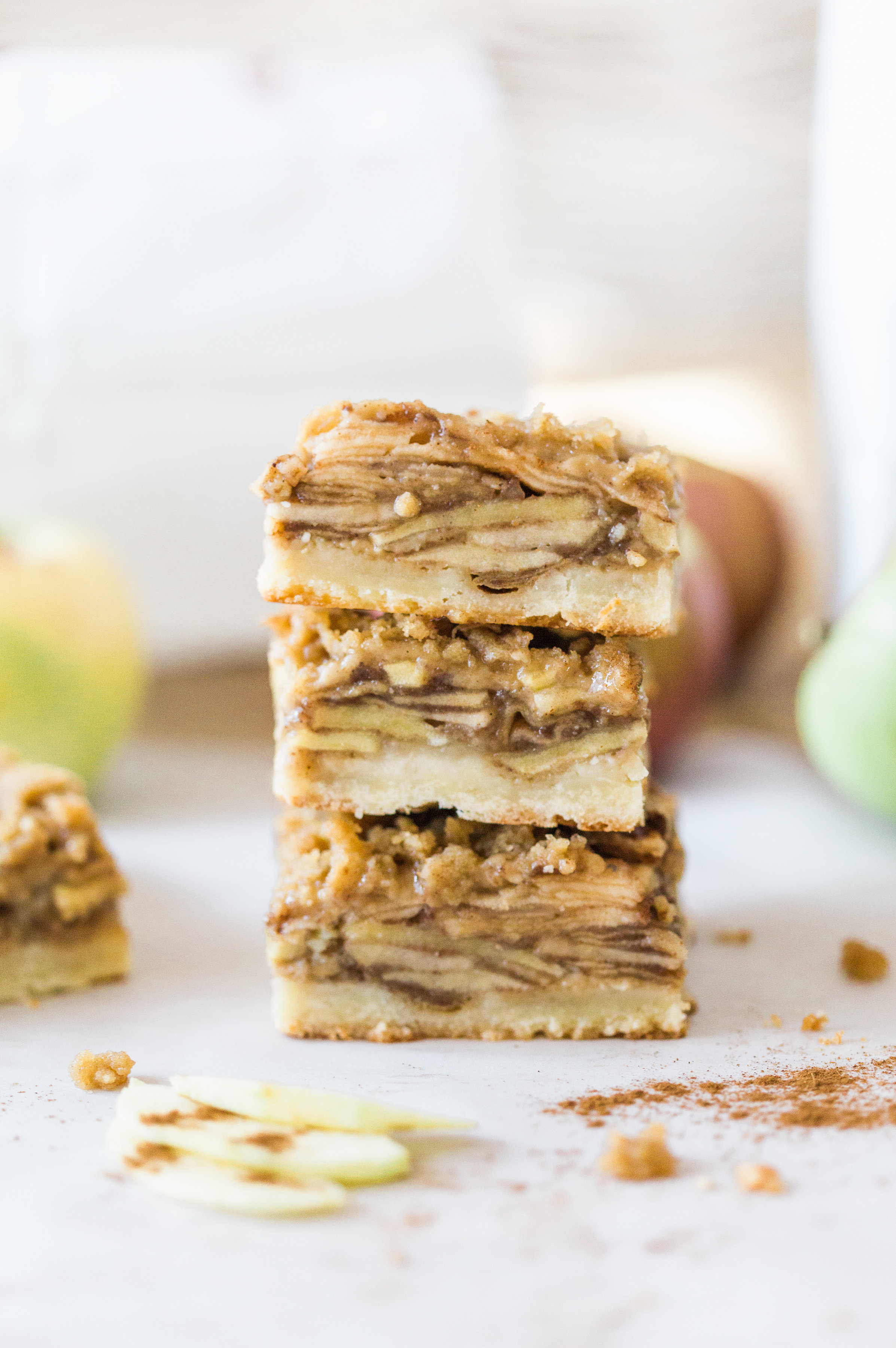 These delicious snacks, packed with the season's best fall flavors, will keep you and your family happily snacking all fall long! Click through for the recipes. | glitterinc.com | @glitterinc // The Most Amazing Apple Crisp Shortbread Bars