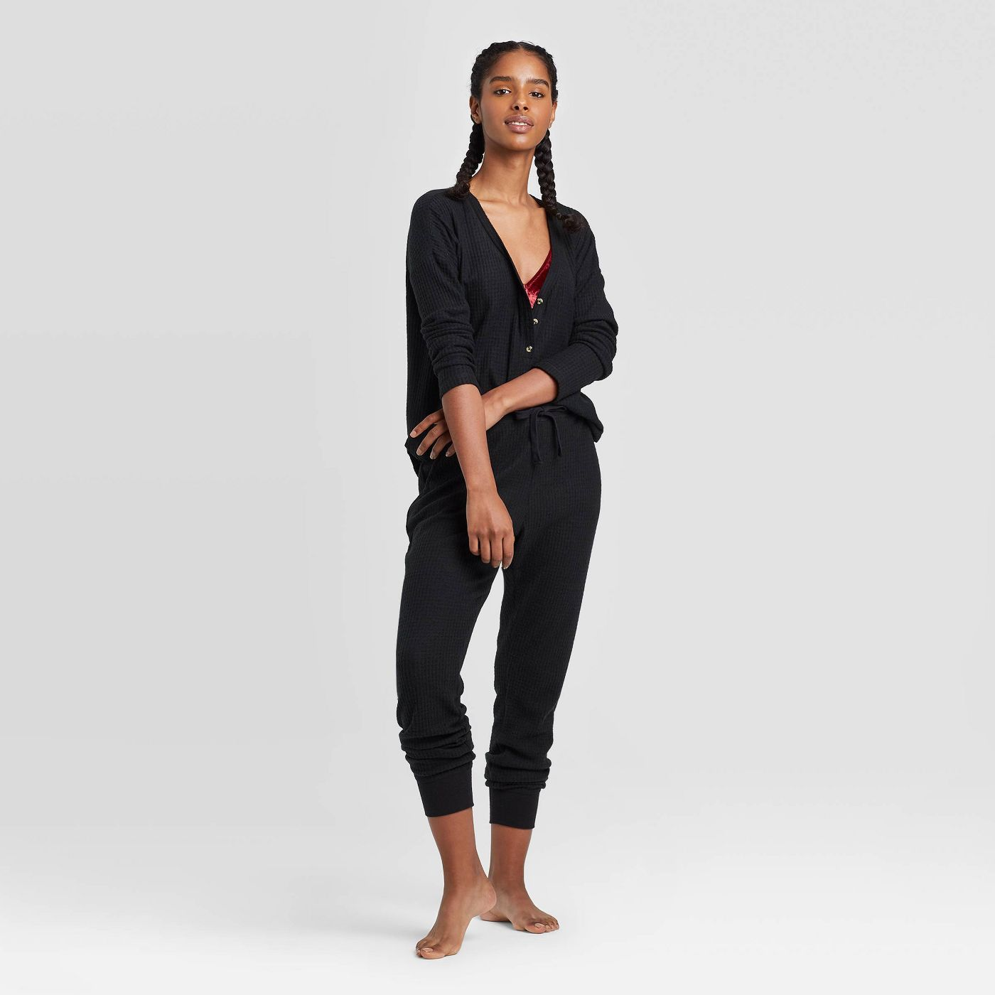 The Cutest Target Pajamas, Women's Cozy Thermal Lounge Top and Joggers