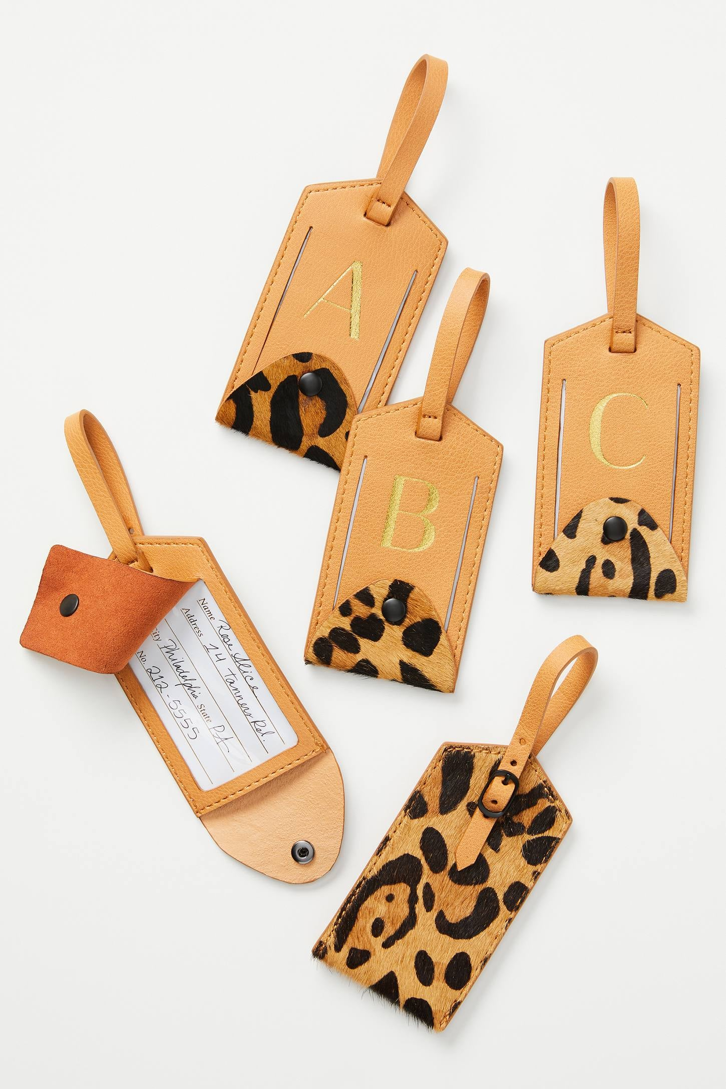 Anthropologie Animalia Monogram Luggage Tag