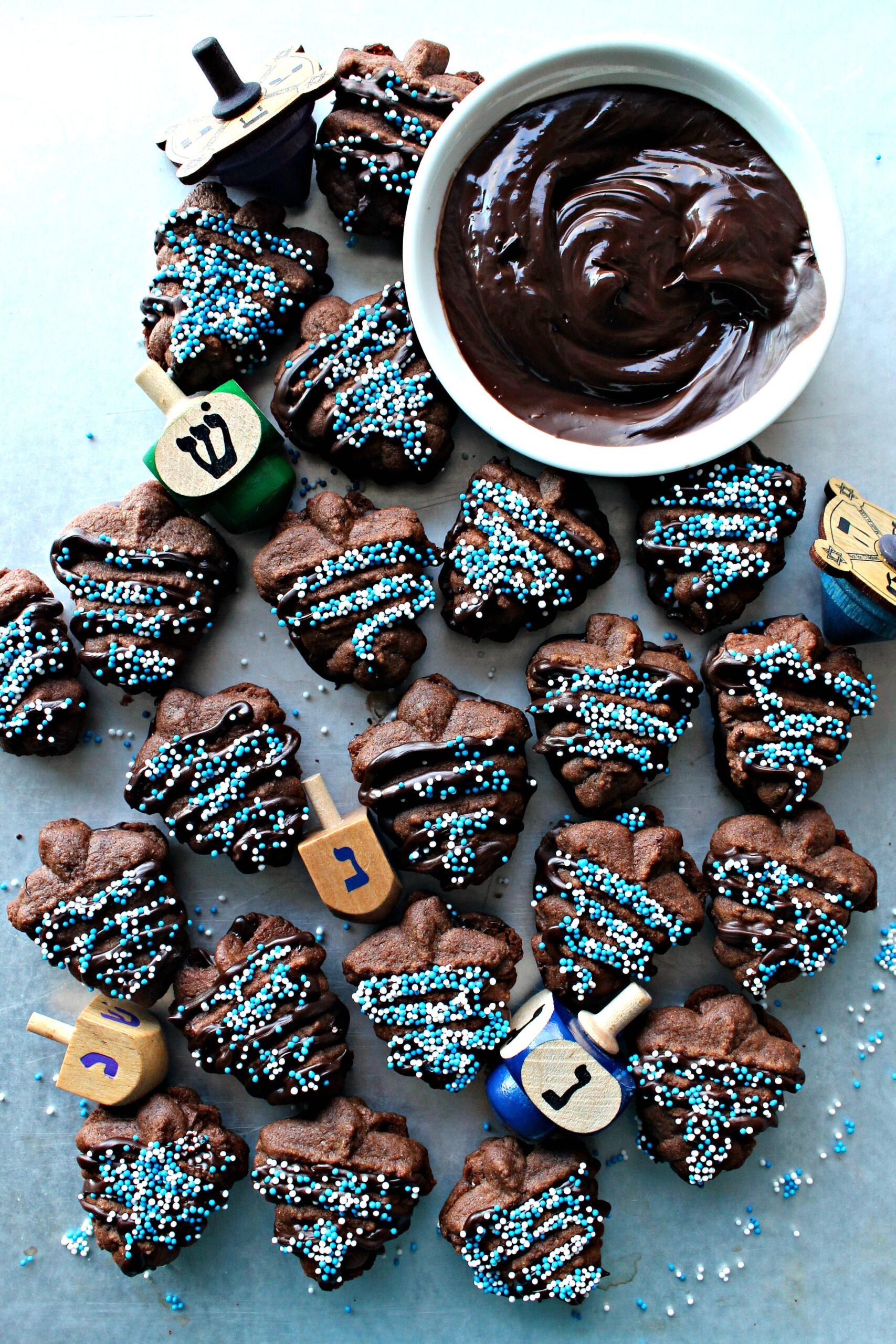 Chocolate Espresso Spritz Cookies | glitterinc.com | @glitterinc