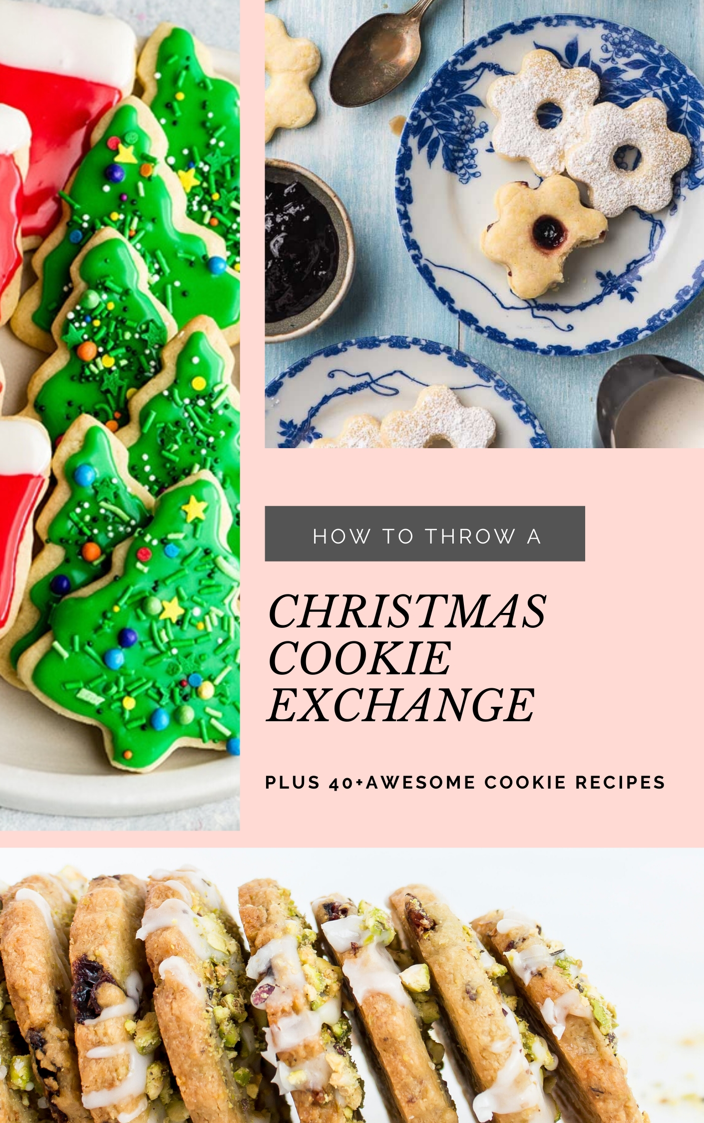 Planning to throw a Christmas cookie exchange this holiday season? These hosting tips will help you to plan one awesome cookie swap party, including more than 40 recipes for our favorite holiday cookies ever! | glitterinc.com | @glitterinc