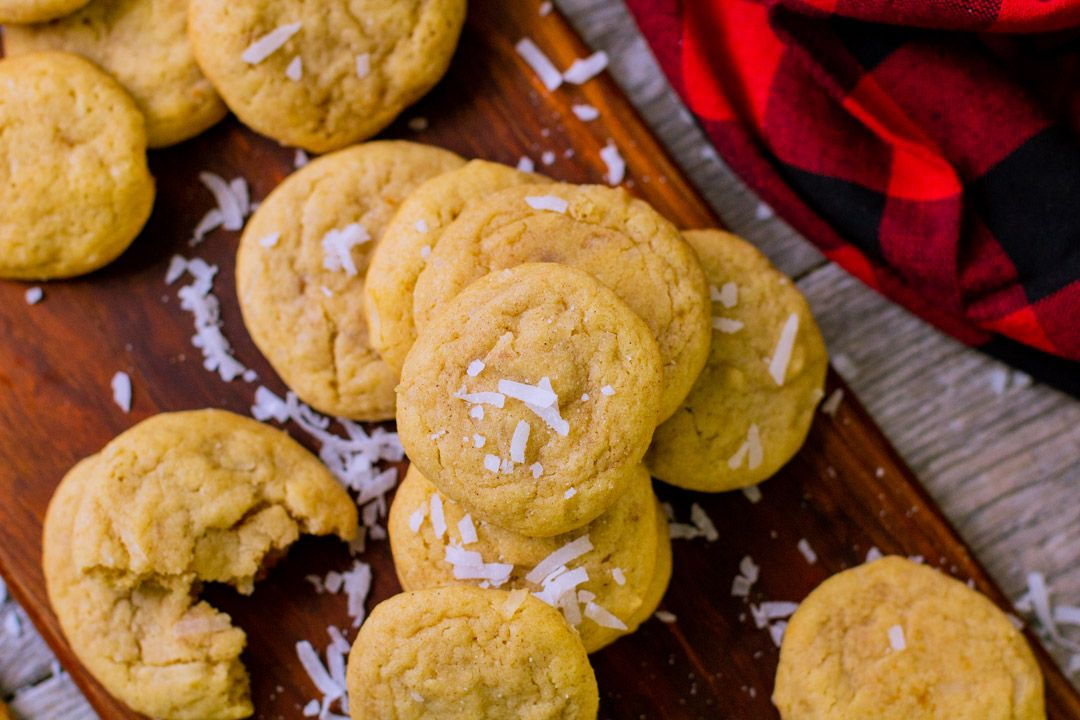 Coquito Cookies | Coconut Spiced Cookies, plus how to throw a Christmas cookie exchange this holiday season! These hosting tips will help you to plan one awesome cookie swap party, including more than 40 recipes for our favorite holiday cookies ever! | glitterinc.com | @glitterinc