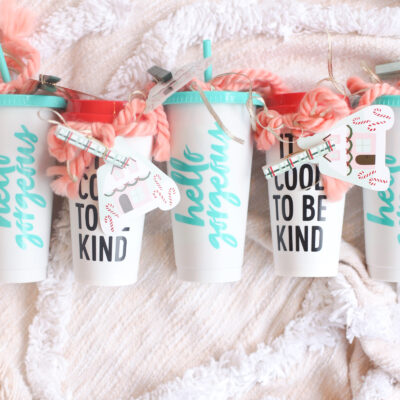 Make an extra special and thoughtful homemade gift for your child's favorite teacher, instructor, coach, etc., and all for under $5! This DIY pampering in a cup gift will be an instant hit. | glitterinc.com | @glitterinc