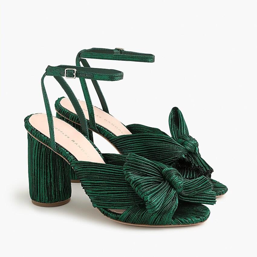 Loeffler Randall Camellia Knot Slides with Ankle Strap