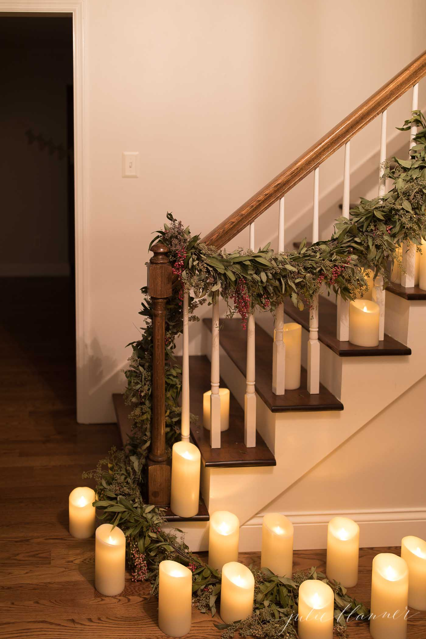 Decorating your house for Christmas? These 4 beautiful and unique Holiday home tours are sure to get you inspired this holiday season! | glitterinc.com | @glitterinc // All is Calm, All is Bright | Christmas Home Tour at Night