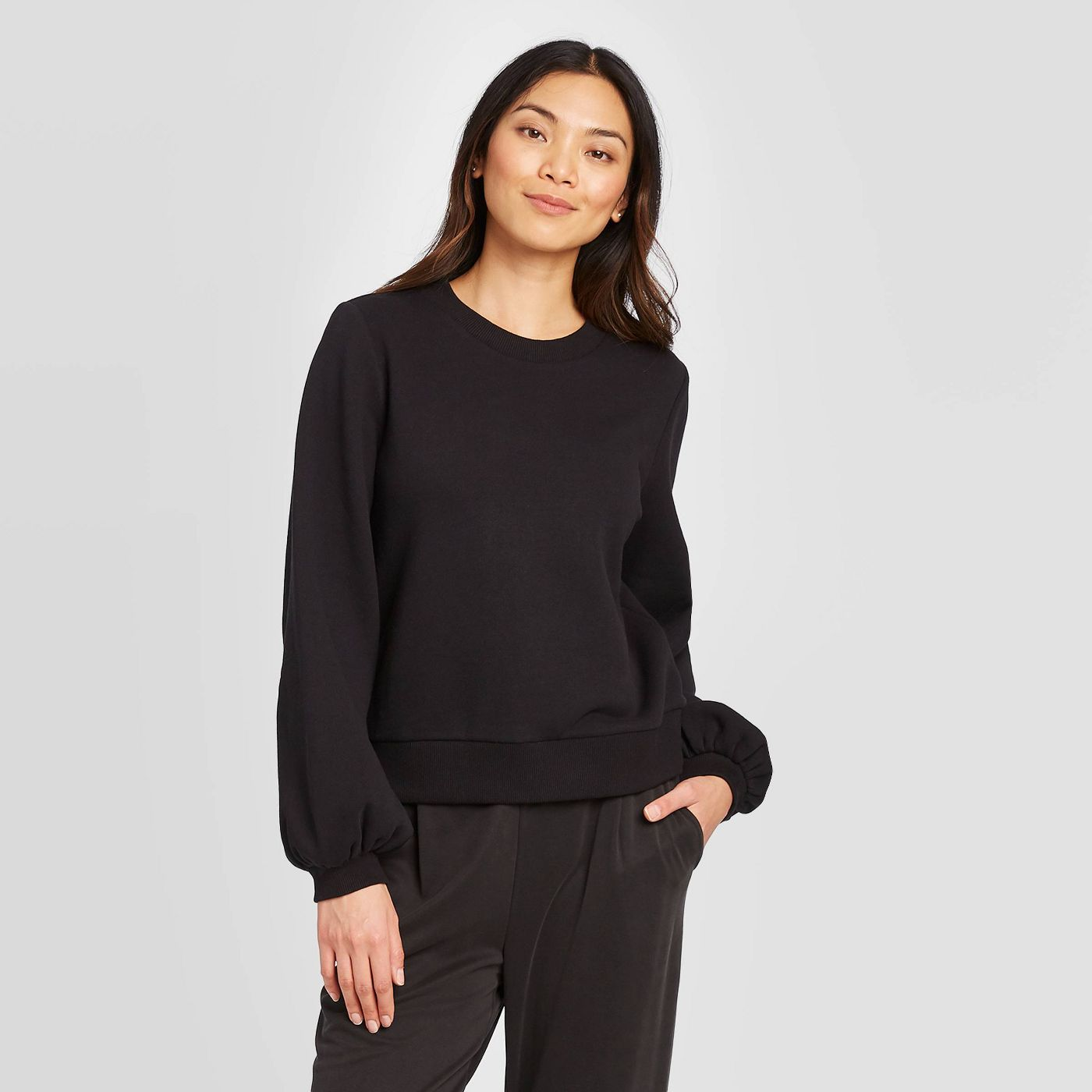 A New Day Crewneck Pullover Sweatshirt Top, 12 Adorably Chic Sweatshirts You'll Want In Your Closet