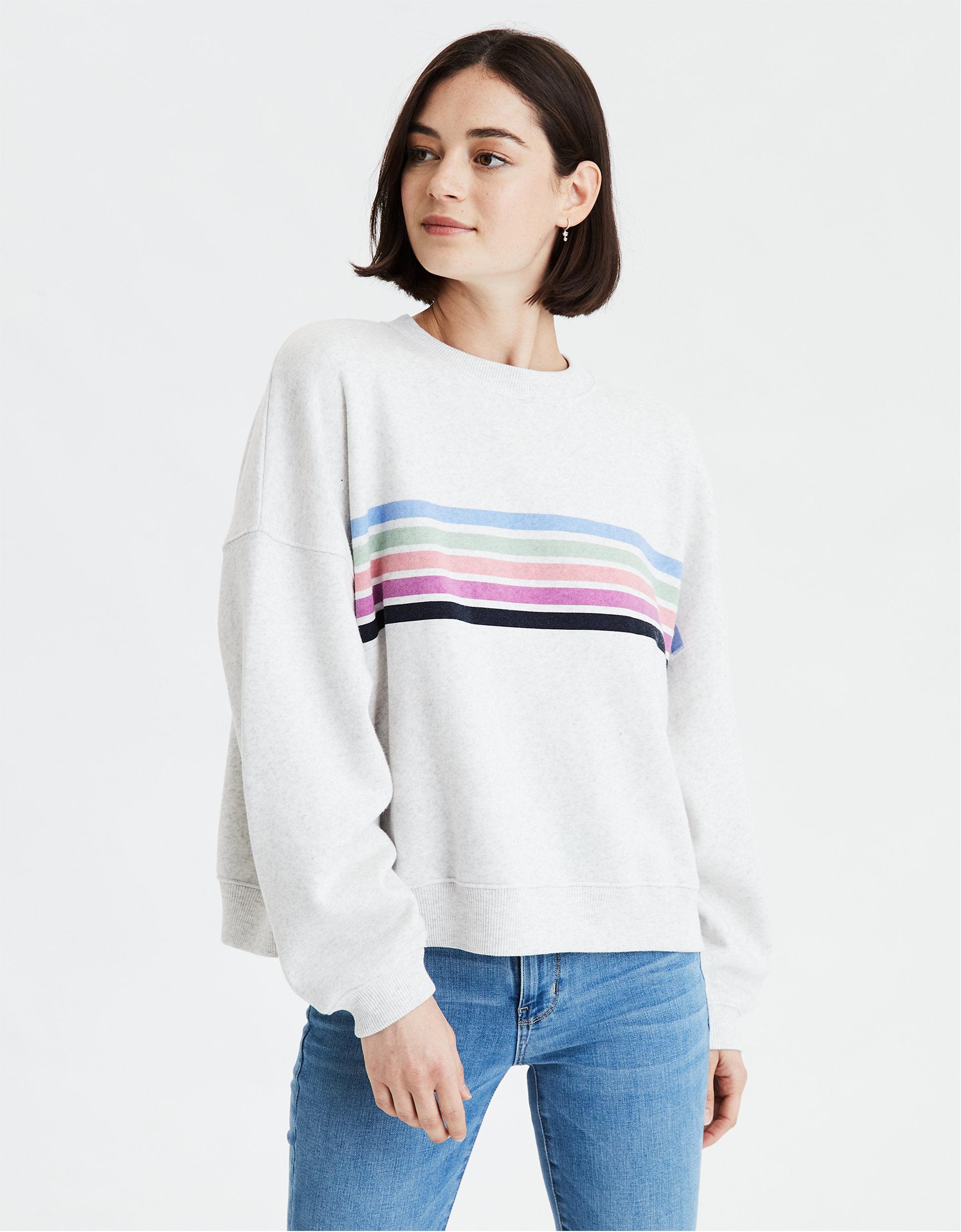 AE Fleece Boxy Crew Neck Sweatshirt