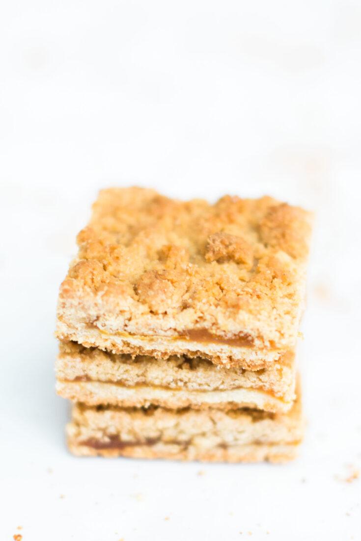 Shortbread Crumble Jam Bars