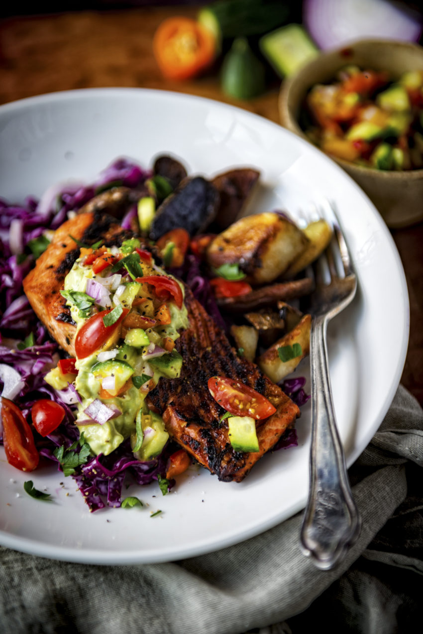 Cast-Ironed Blackened Salmon Quick and Healthy Dinner Recipes