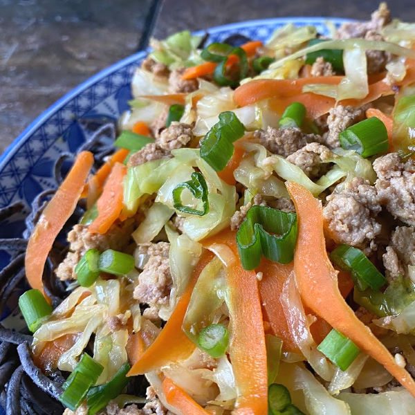 Low Carb Egg Roll in a Noodle Bowl