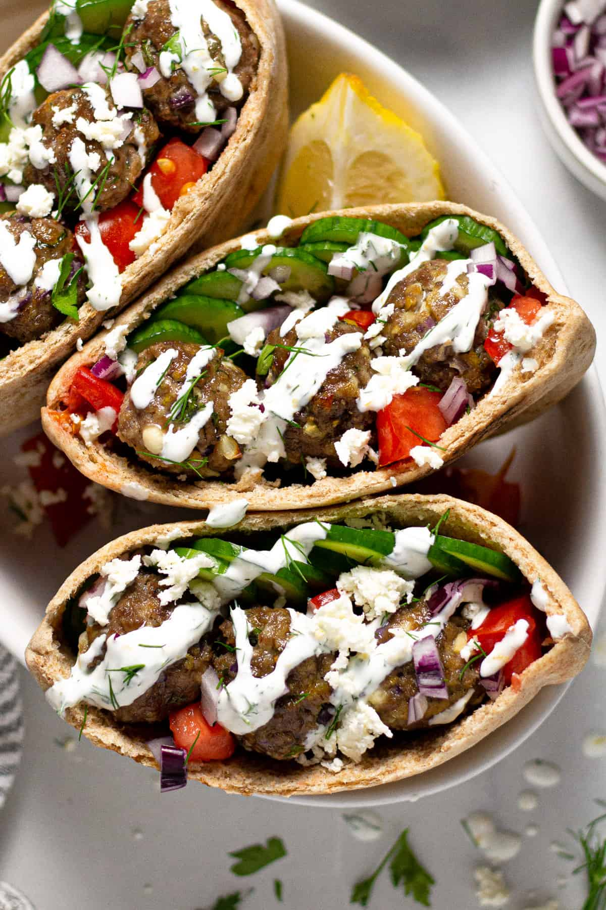 Greek Meatball Gyros Quick and Healthy Dinner Recipes