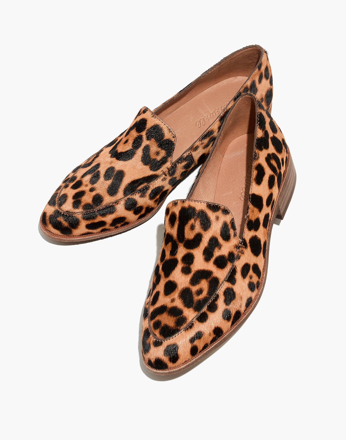 Madewell The Frances Loafer in Leopard Calf Hair