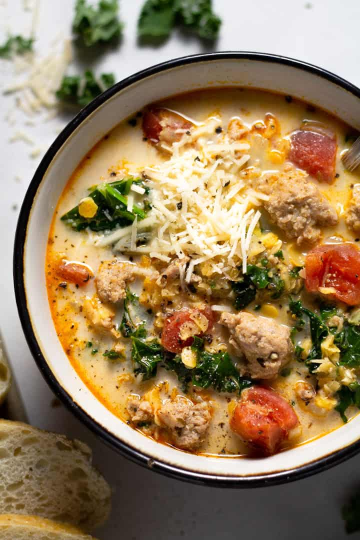 Sausage Lentil Soup with Kale Quick and Healthy Dinner Recipes