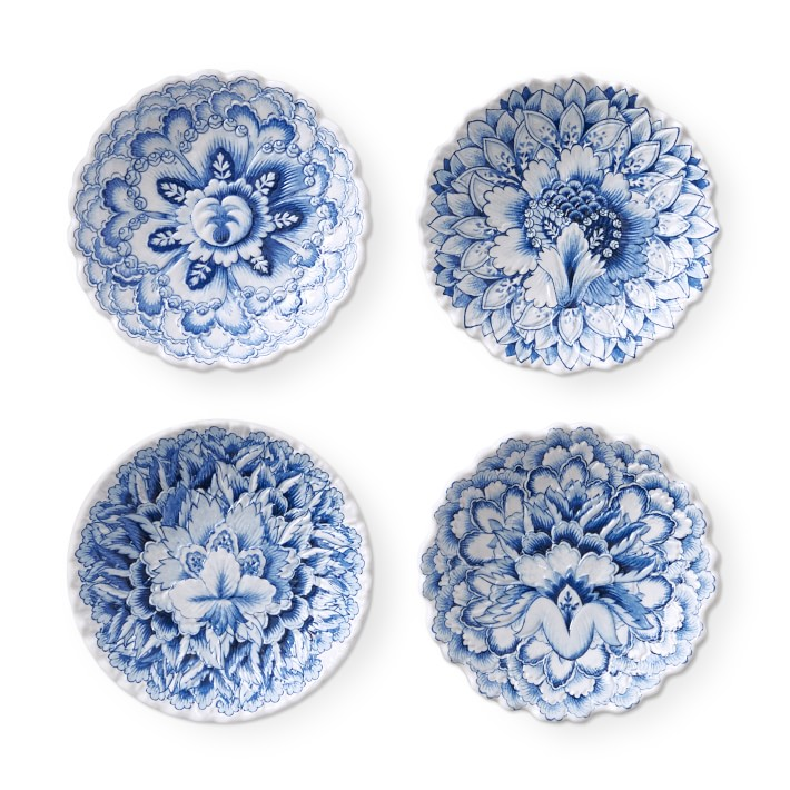 AERIN Fairfield Outdoor Melamine Large Mixed Dip Bowls, Set of 4