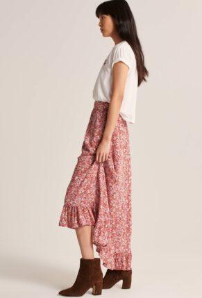 Abercrombie Ruffle Hem Maxi Skirt
