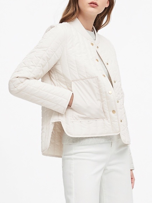 WEEKLY FINDS; including the Banana Republic Water-Resistant Quilted Jacket | glitterinc.com | @glitterinc