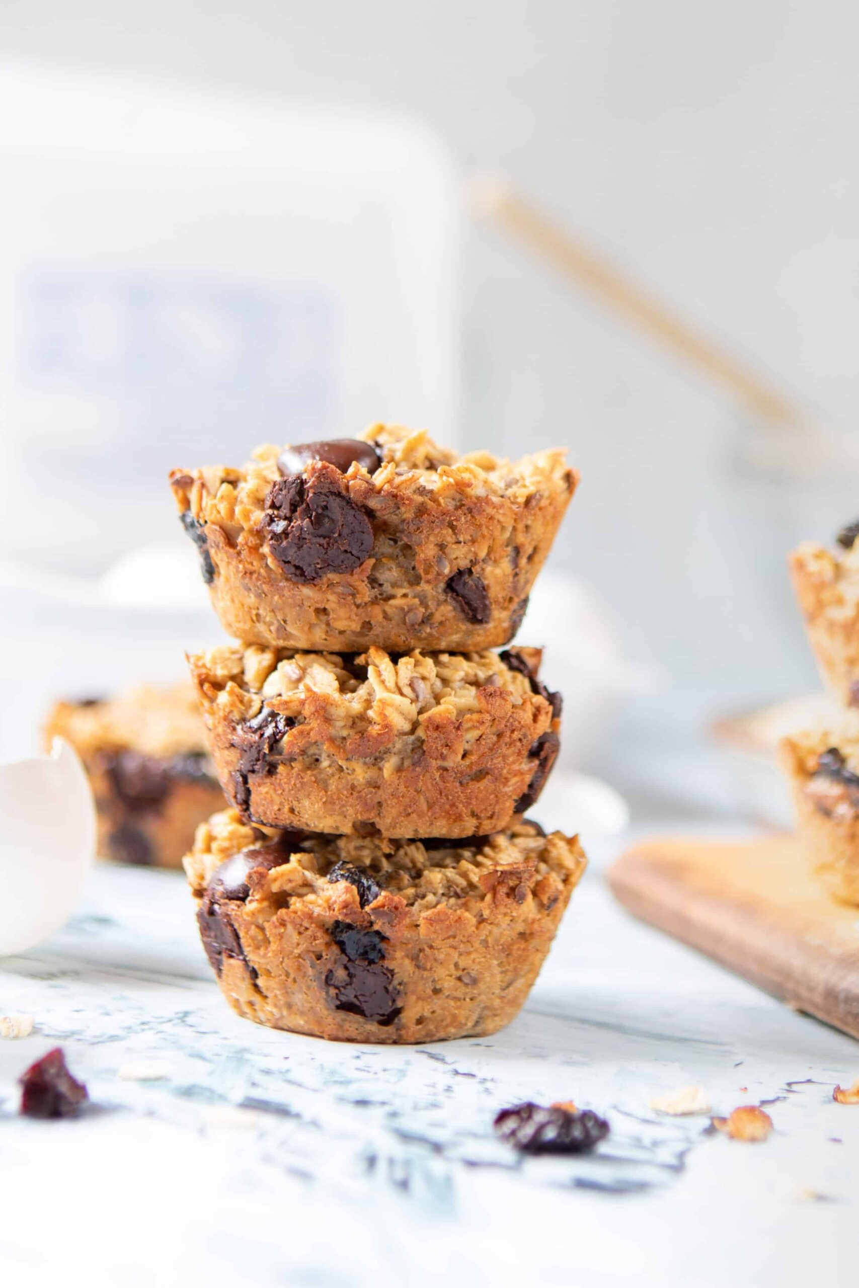 Cherry Chocolate Chip Baked Oatmeal Cups