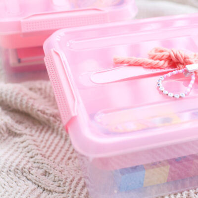 DIY Valentine's Day Gift Basket Storage Box Idea - GLITTERINC.COM