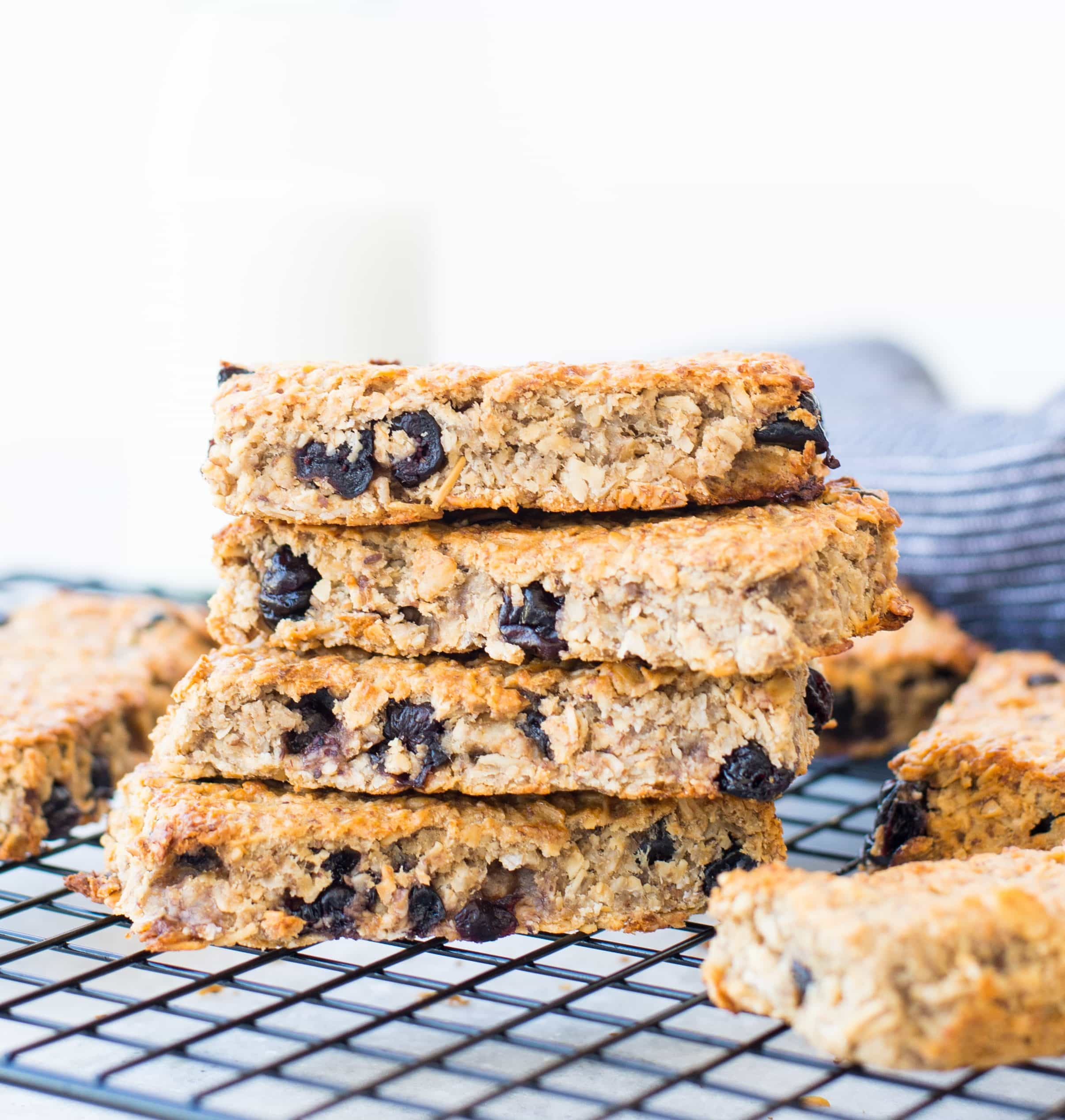 On-the-Go and Make-Ahead Breakfast Recipes Blueberry Banana Granola Bars