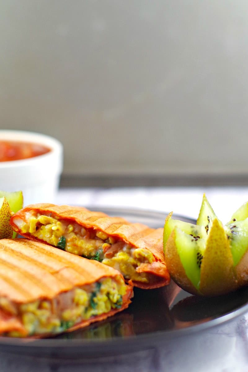 Healthy Mediterranean Breakfast Burritos