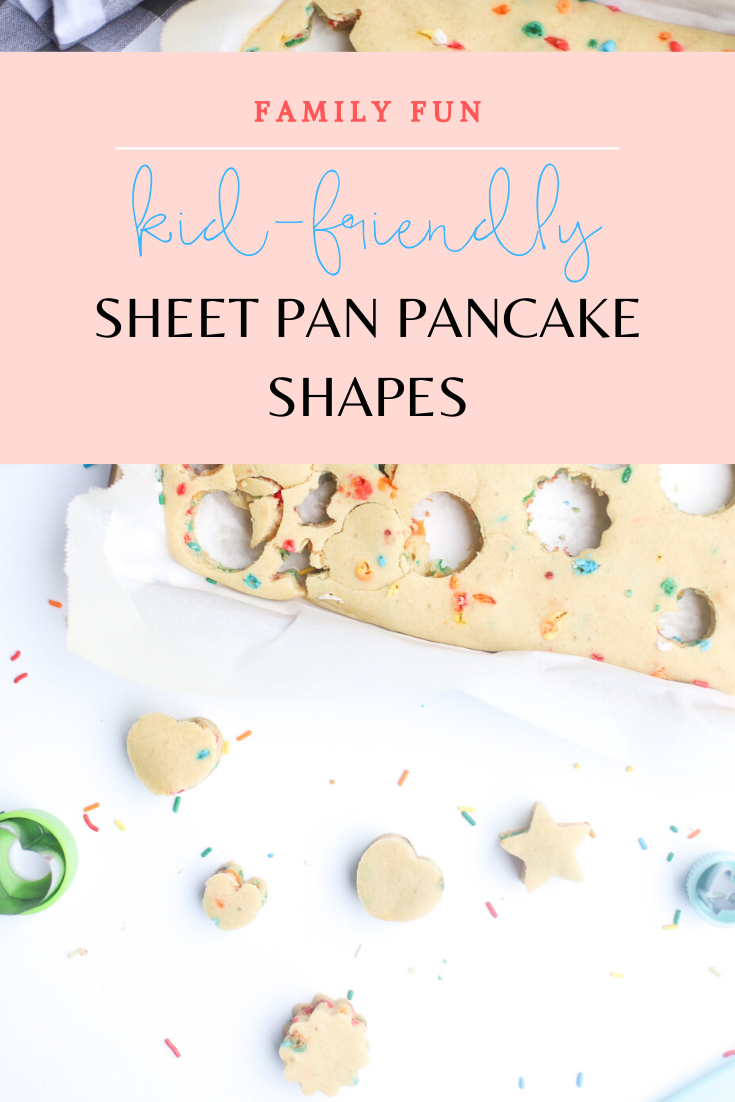 Homemade Sheet Pan Pancakes - a quick and simple breakfast recipe sure to seriously upgrade your morning pancake routine. Make these oven-baked pancakes any time you want delicious, fluffy pancakes for breakfast without all of the work. Give your kids cookie cutters and let them turn pancakes into their favorite adorable shapes for an extra kid-friendly brunch! | glitterinc.com | @glitterinc