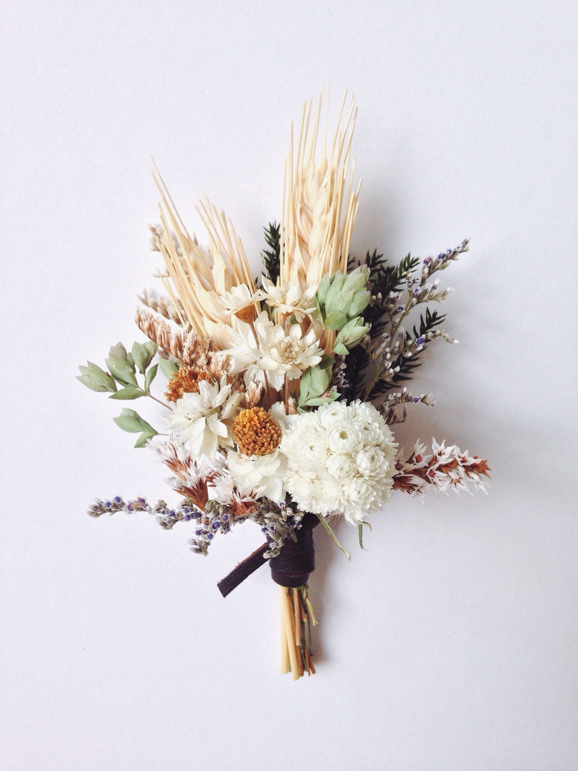Meadowlark Flower and Wheat Boutonniere Arrangement
