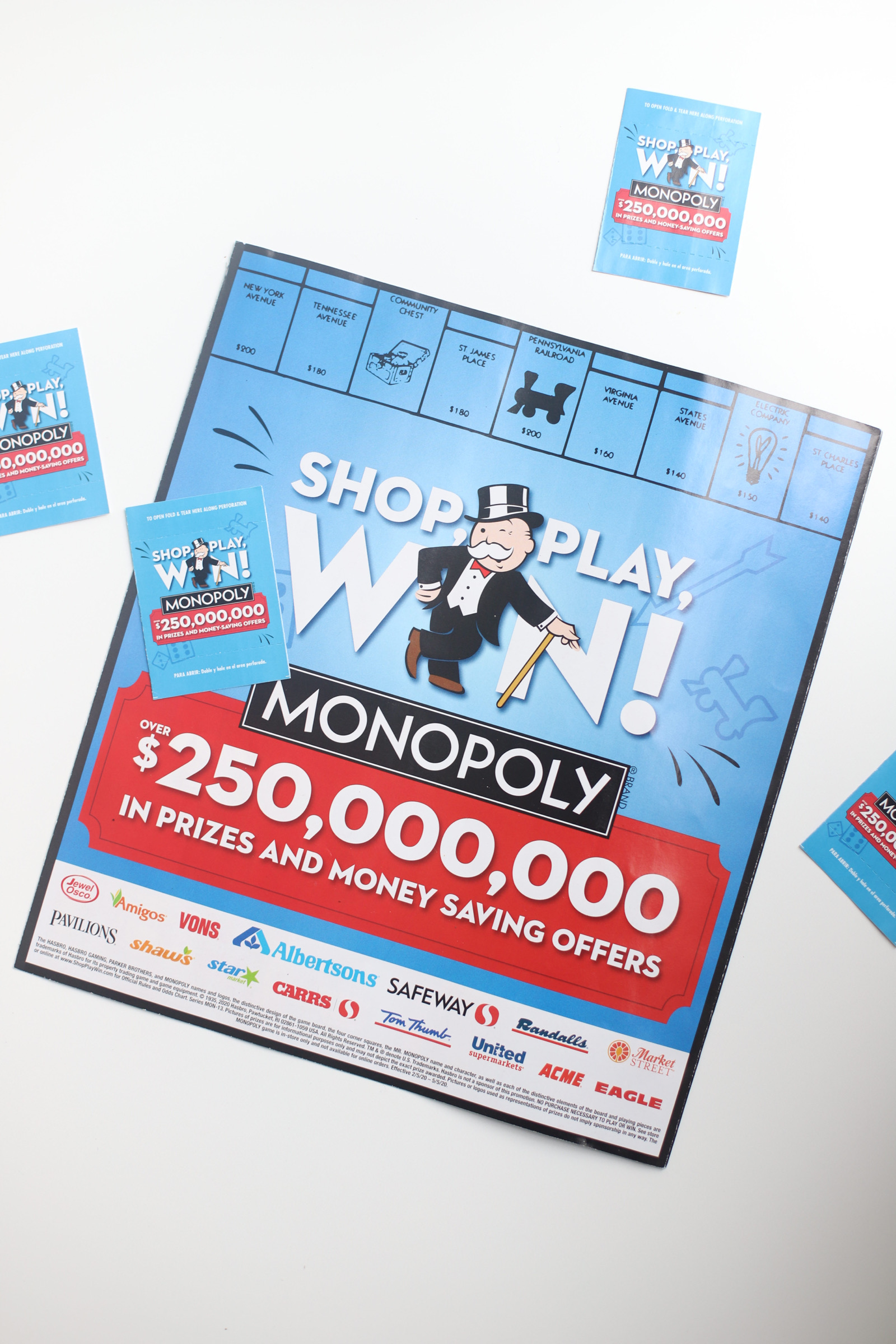 How to play SHOP, PLAY, WIN! MONOPOLY with Albertsons Stores. | glitterinc.com | @glitterinc