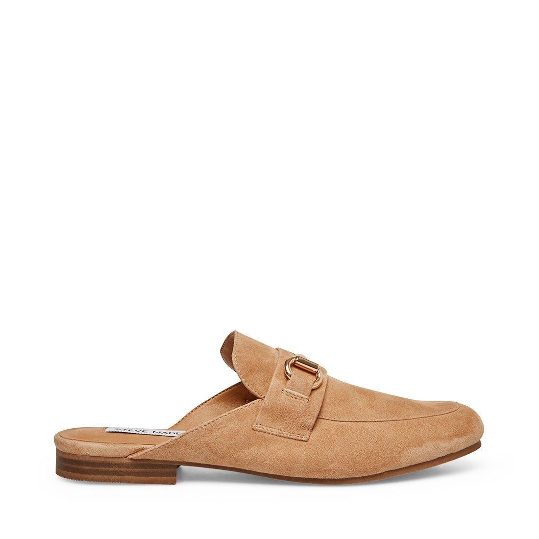 Steve Madden KANDI CAMEL SUEDE Loafer Slides