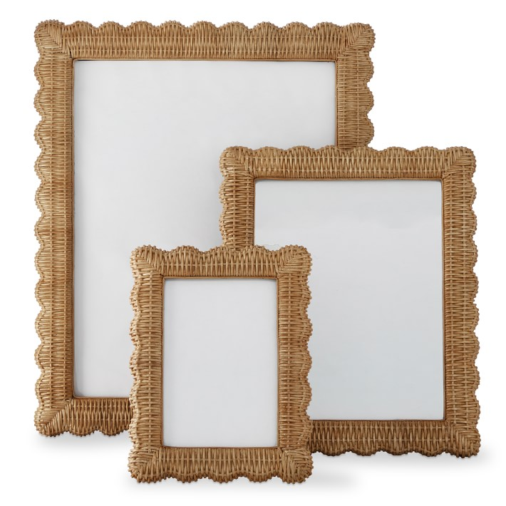 AERIN Wicker Scalloped Gallery Frame