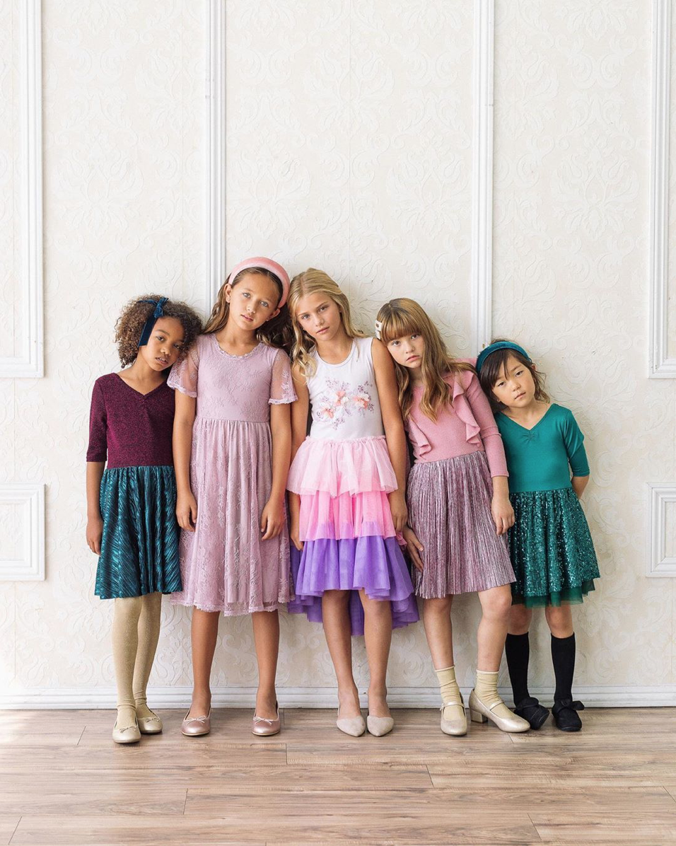 If you have a little girl who loves a great twirly dress, this post is for you! Sharing where to find the very best twirly dresses; a.k.a., skater dresses, for kids. | glitterinc.com | @glitterinc // Dot Dot Smile Twirly Dresses