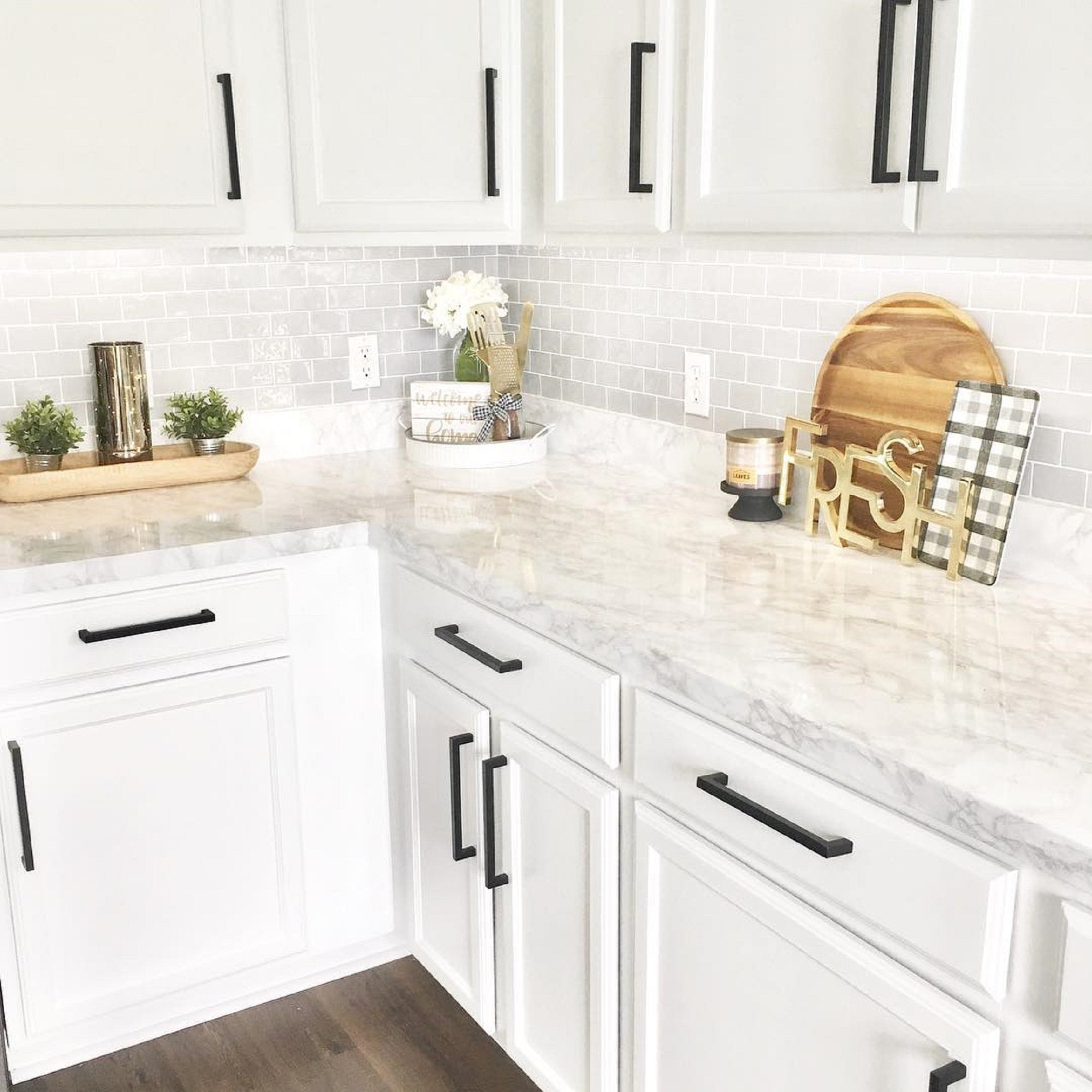 Ez Faux Decor Self Adhesive Decorative Peel and Stick Countertops Marble Contact Paper Countertop NO Paint!!