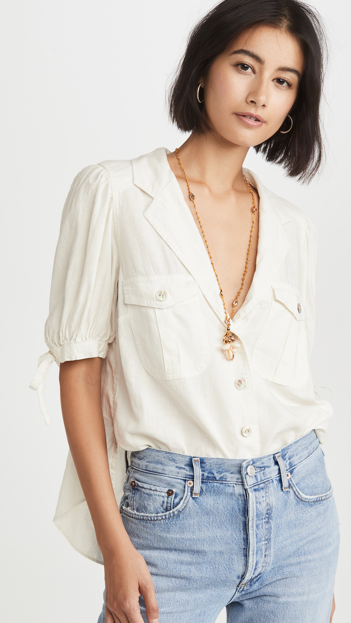 Free People Safari Babe Top