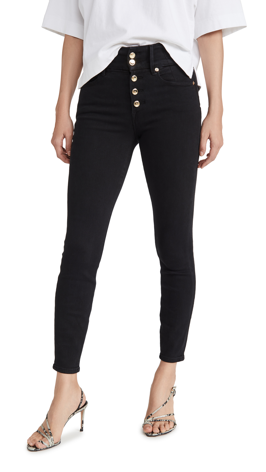 Good American Good Waist Button Fly Jeans