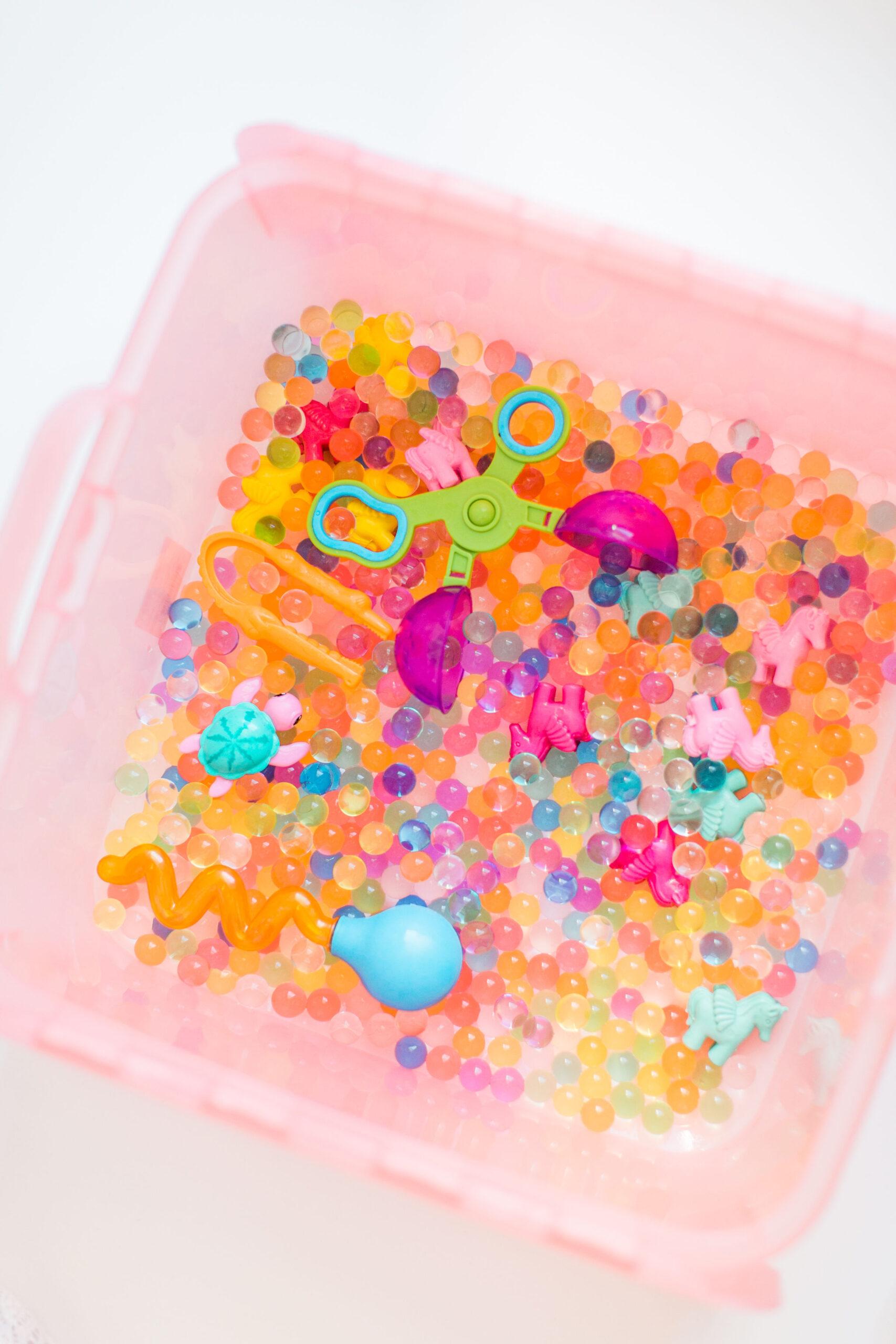 Make a Water Beads Sensory Bins