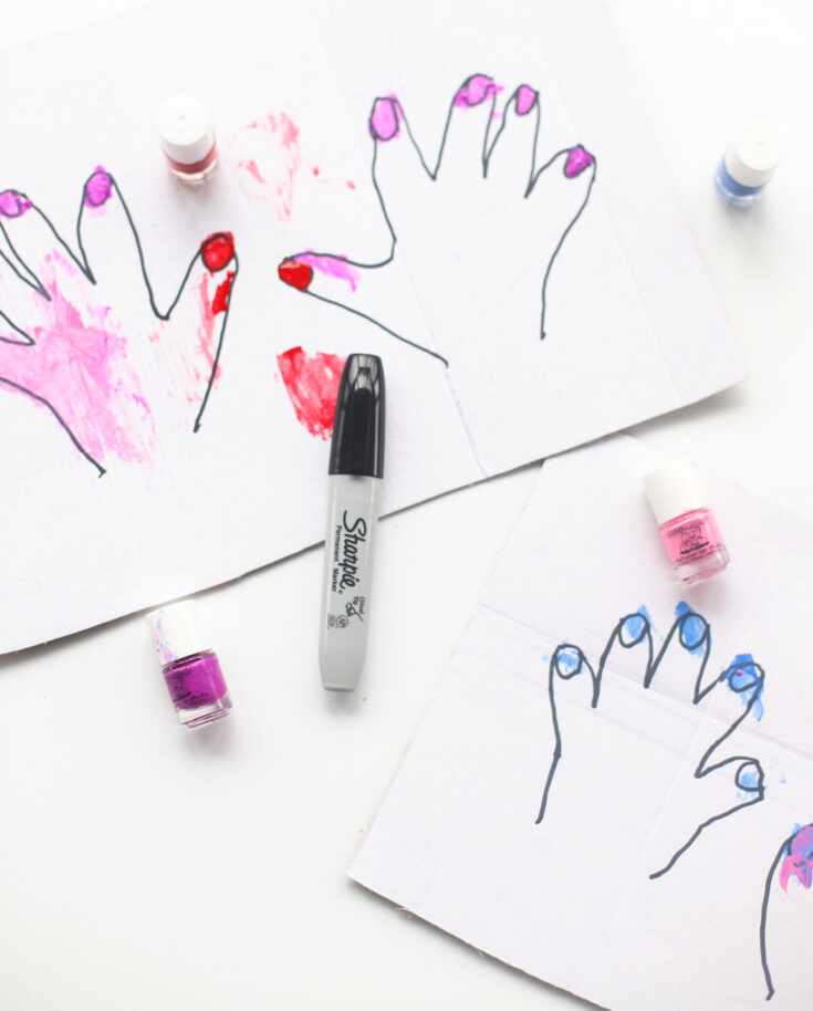 Kids Cardboard Manicure Activity