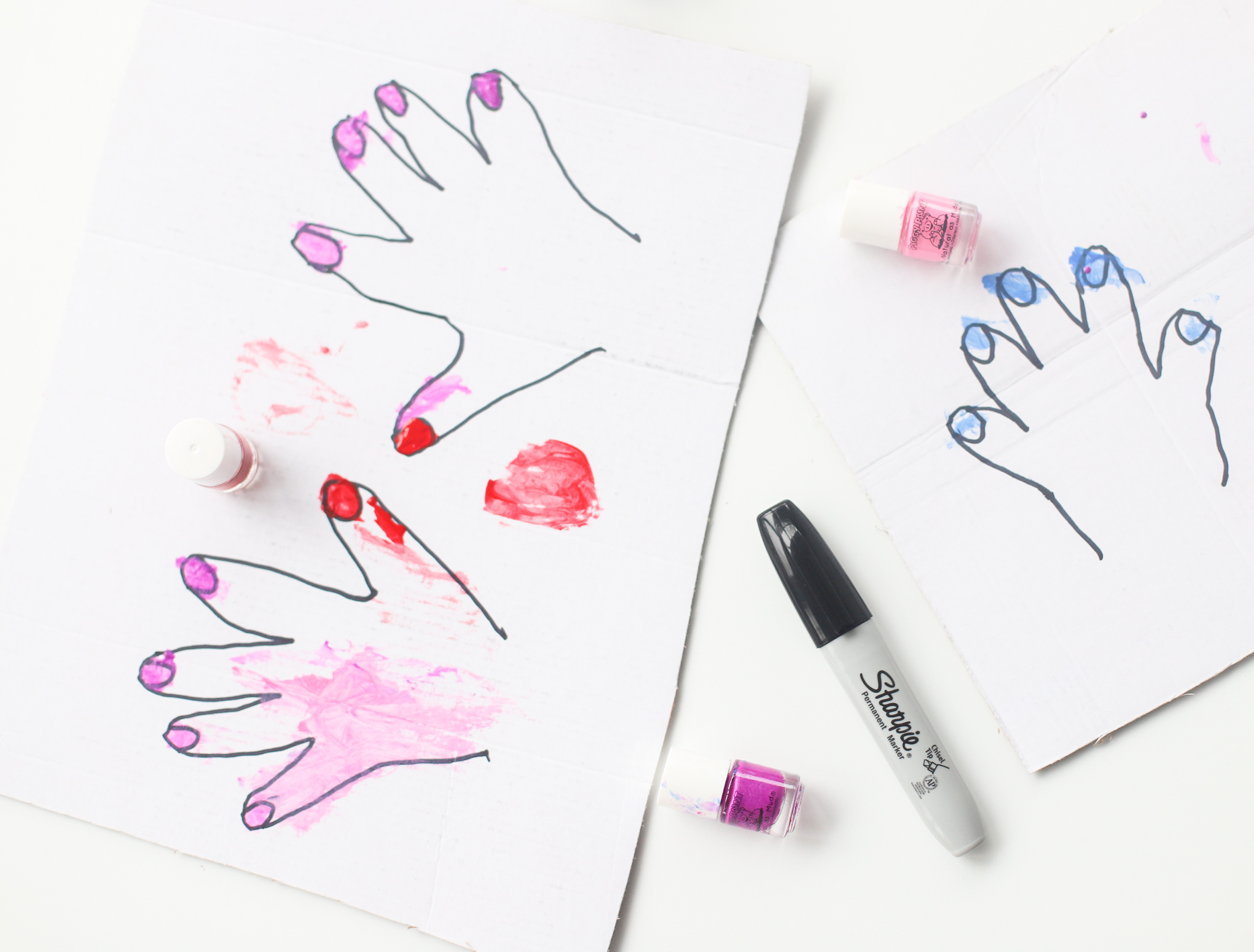 kids LOVE painting the pretend nails with nail polish! | glitterinc.com | @glitterinc