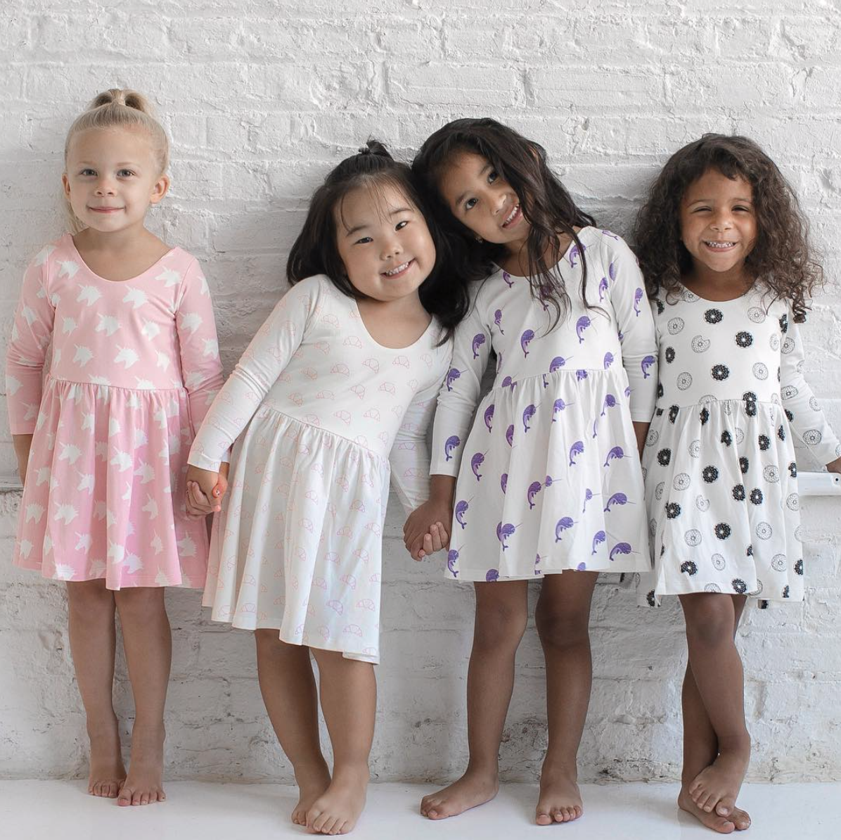 If you have a little girl who loves a great twirly dress, this post is for you! Sharing where to find the very best twirly dresses; a.k.a., skater dresses, for kids. | glitterinc.com | @glitterinc // Monica + Andy Twirly Dresses via @monicaandandy