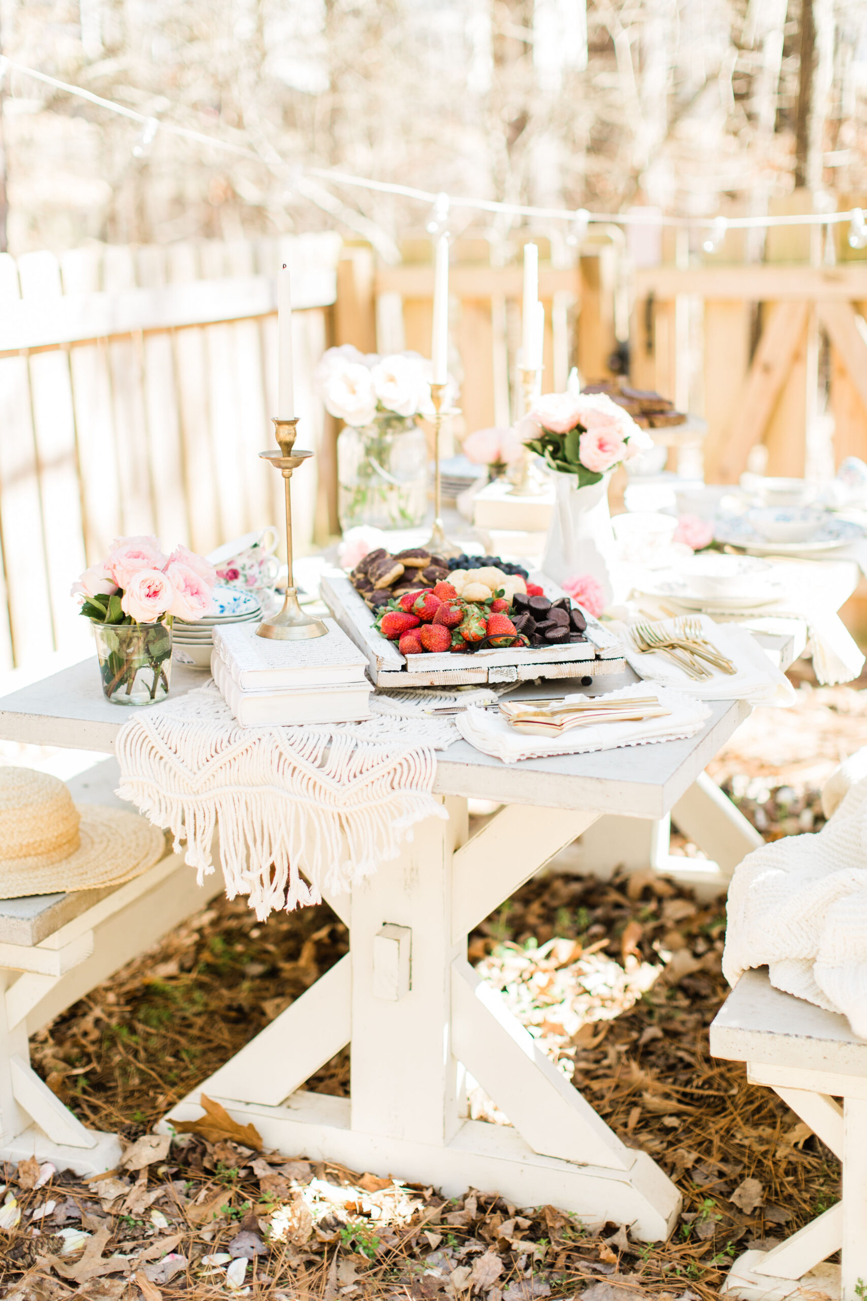 Whimsical Outdoor Spring Tea and Dessert Party