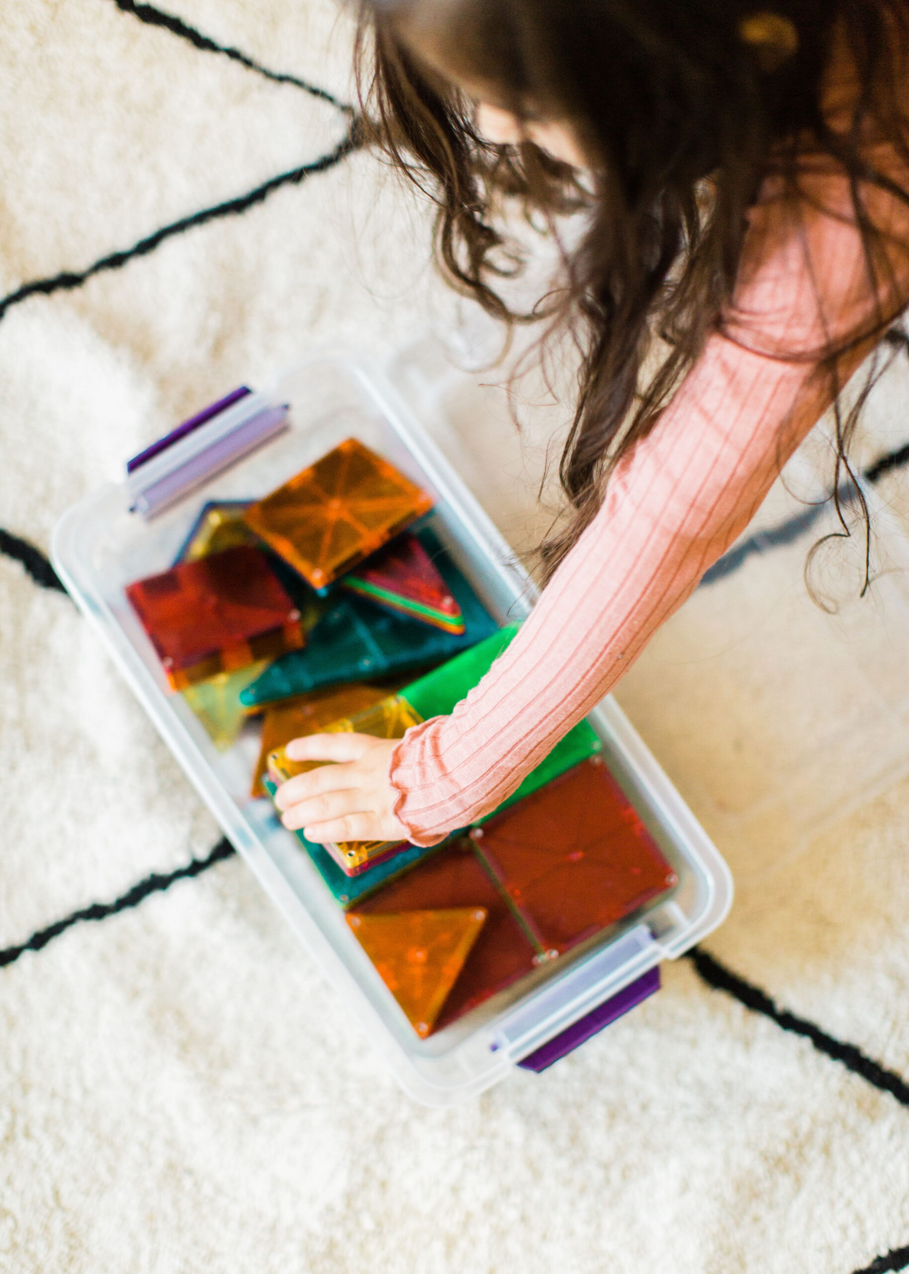 Home with your young kids? Here is a huge list of fun and educational activities to do at home with young kids, including exactly how to entertain your children during school closures, cold and flu days, Spring and Summer vacation breaks, and more. | glitterinc.com | @glitterinc // Activities for Kids at Home - Make Lego or Magna-Tiles Projects