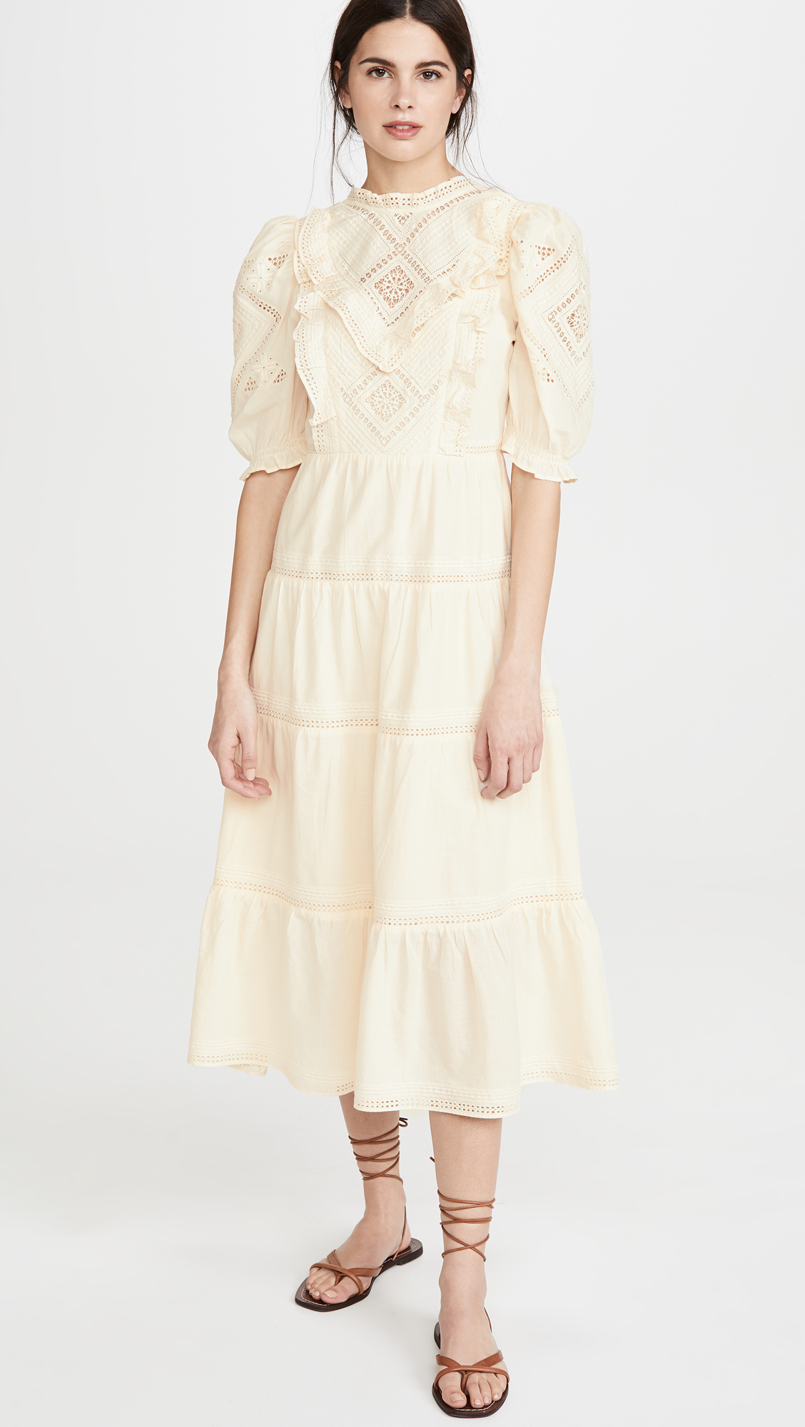Sea Talitha Lantern Sleeve Maxi Dress