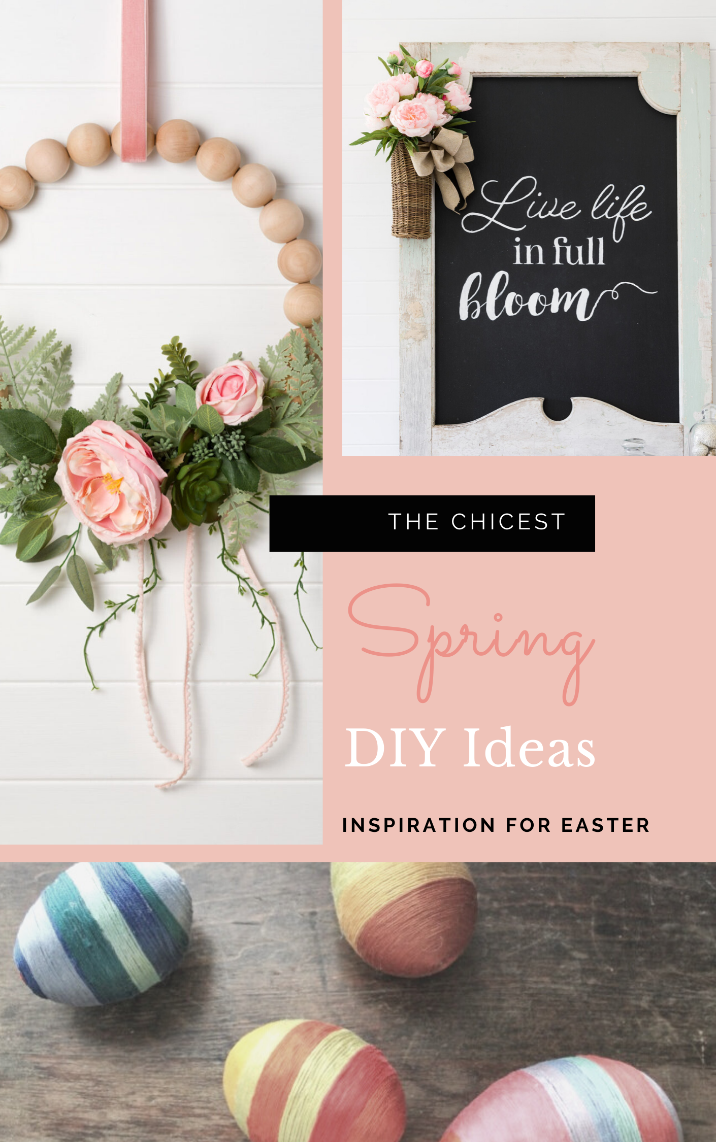 Celebrate Easter this season with the chicest DIY Easter décor, DIY ideas, and inspiration for the sweetest Easter parties! | glitterinc.com | @glitterinc
