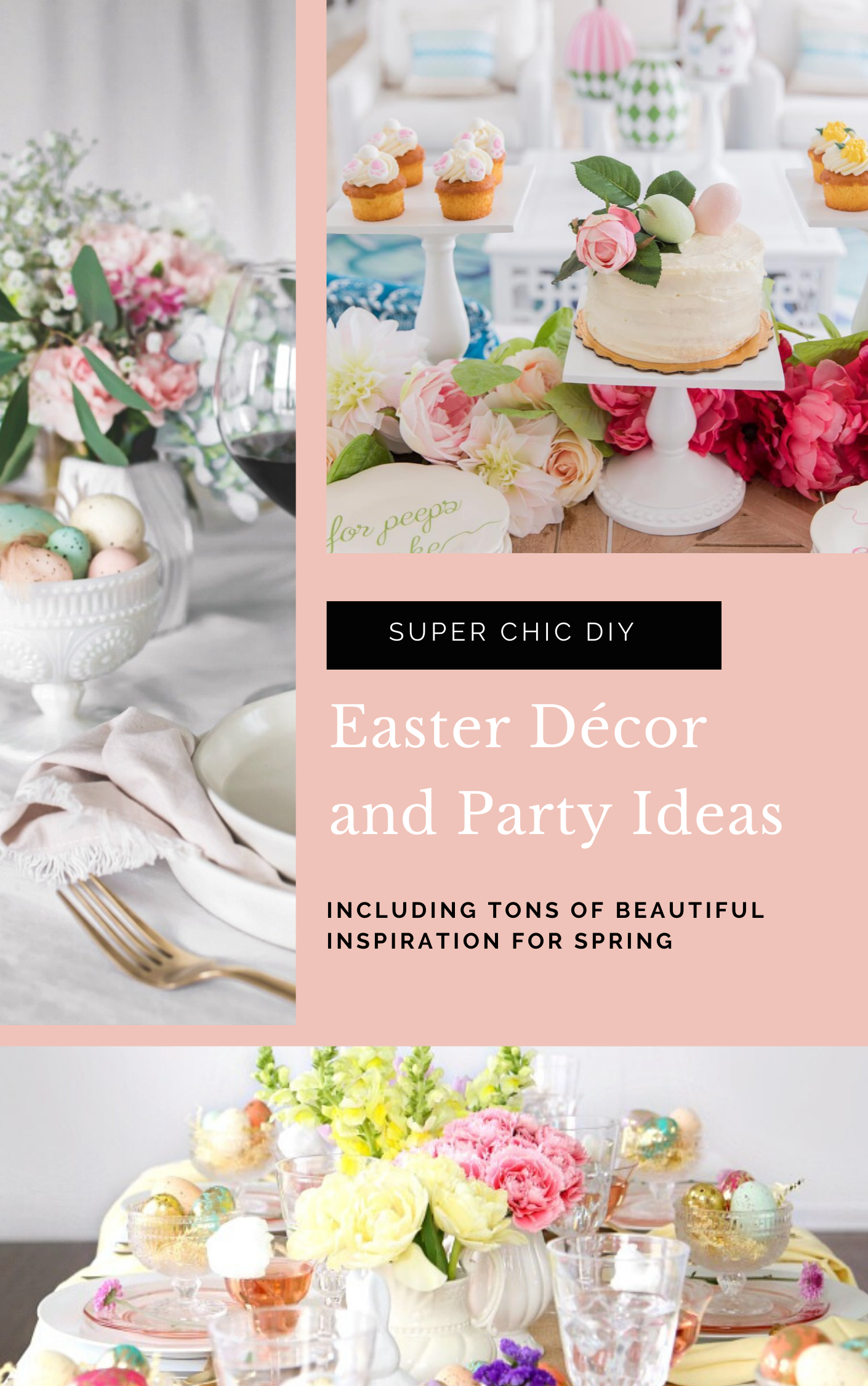 Celebrate Easter this season with the chicest DIY Easter décor and inspiration for the sweetest Easter parties! | glitterinc.com | @glitterinc